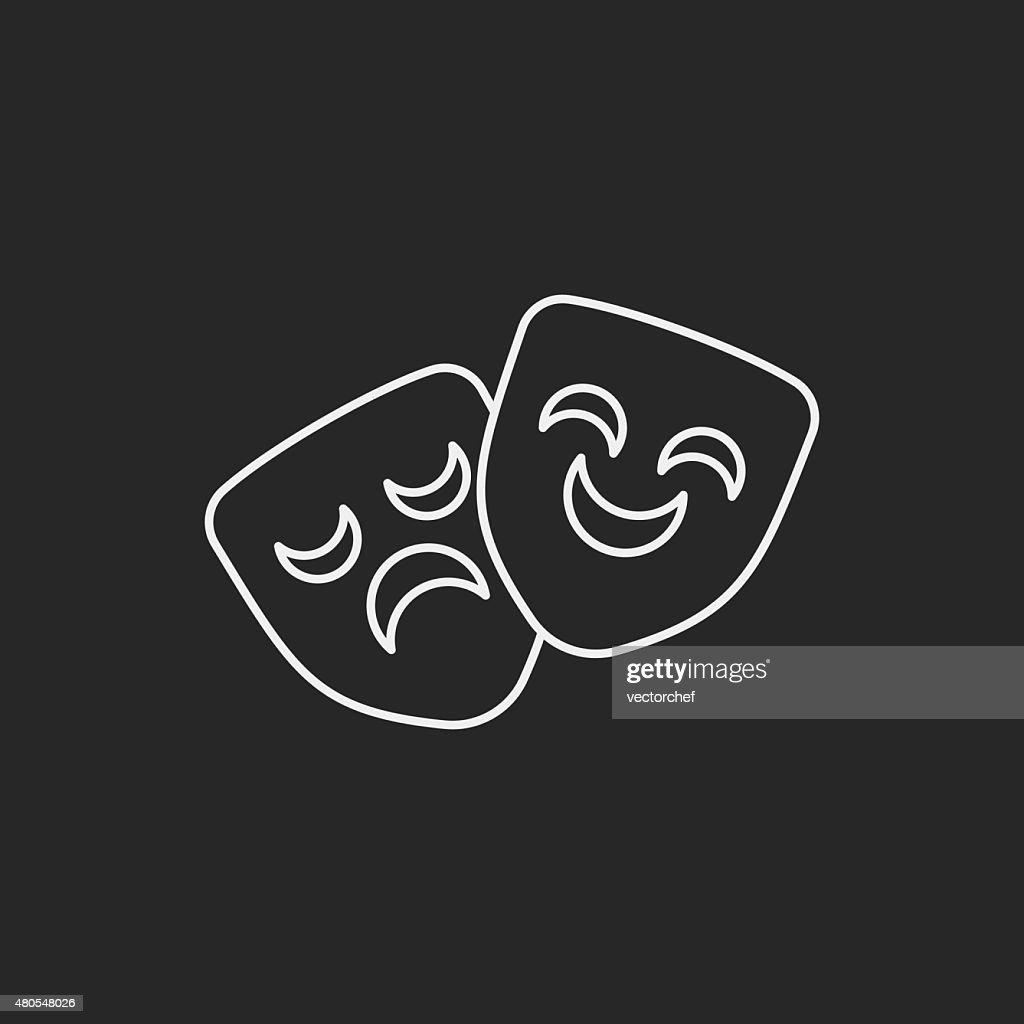 Máscara de icono de la ópera : Arte vectorial
