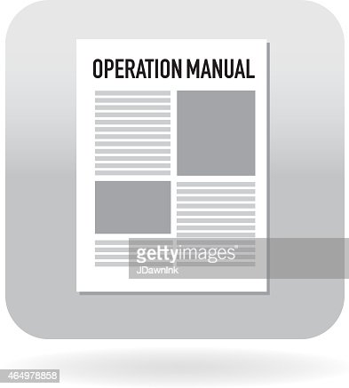 Operation Manual Icon Vector Art | Getty Images