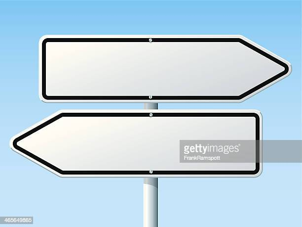 Opposite Direction Road Sign