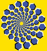 optical illusion.  Bright background with the optical illusion