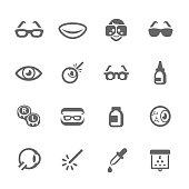 Simple Set Optometry Related Vector Icons for Your Design