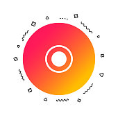 CD or DVD sign icon. Compact disc symbol. Colorful geometric shapes. Gradient disc icon design.  Vector