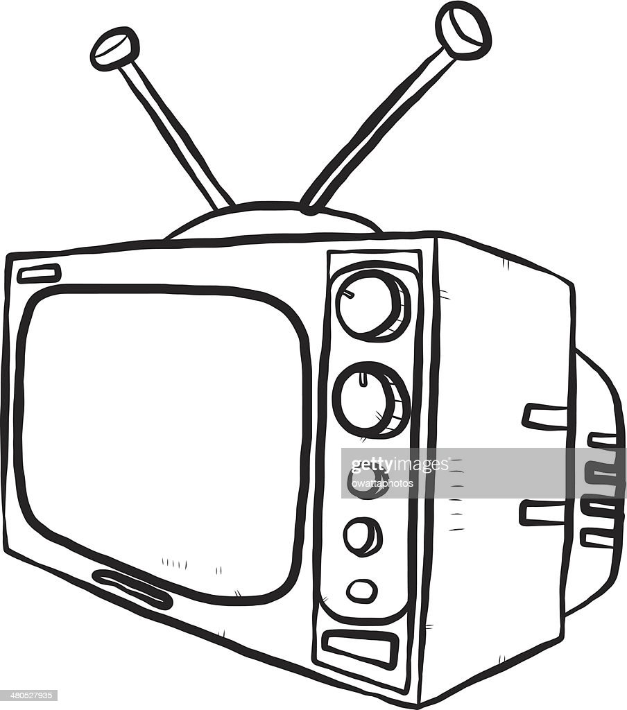 TV or television : Vector Art