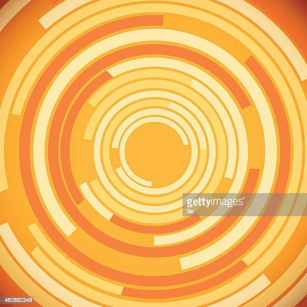 Orange Abstract Circles Background