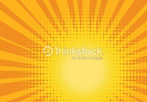Orange and Yellow Pop Art Background : stock vector