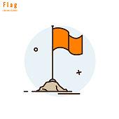 Temple Saffron (Bhagwa) Flag, Symbolize religious culture and spirituality