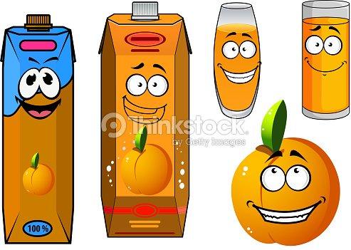 Jus Dorange Et Des Fruits Icônes De Dessin Animé Clipart