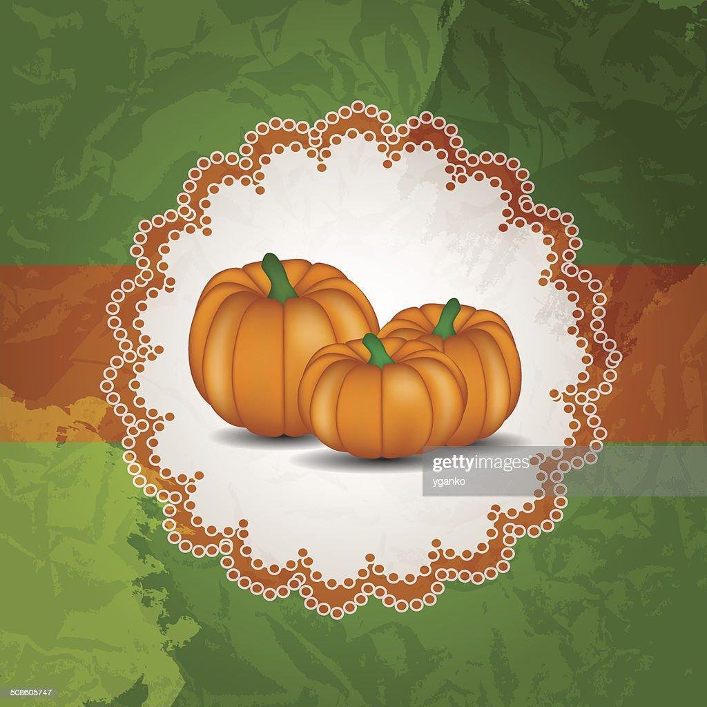 De fondo naranja calabaza ilustración vectorial : Arte vectorial