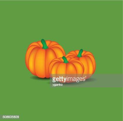 Orange Pumpkin  Background Vector Illustration : Vector Art