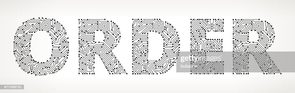 Order Circuit Board Vector Buttons Vector Art | Getty Images