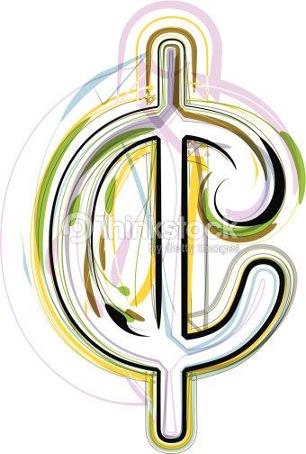 Organic Font Cent Symbol Illustration Vector Art Thinkstock