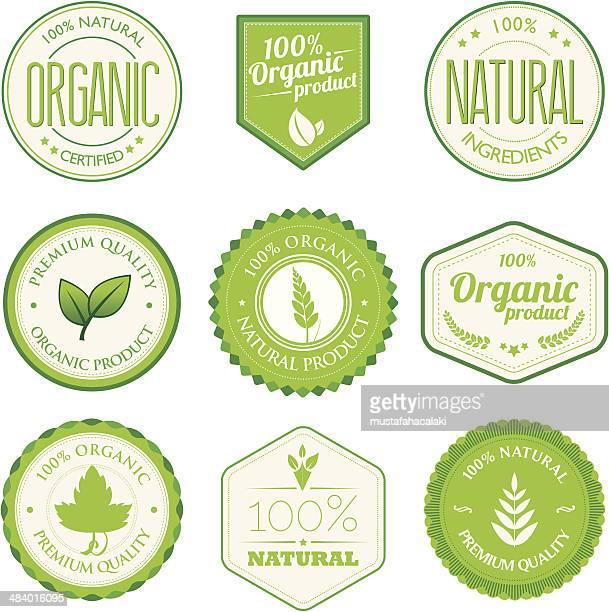 Bio-Produkt-Abzeichen