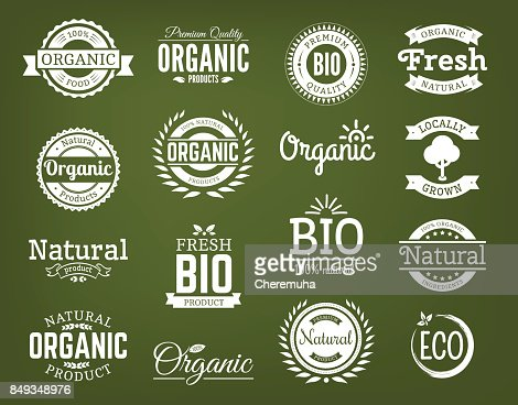 Bio-Vektor-Logo-Set. : Vektorgrafik