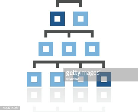 Organization Chart Icon On A White Background Royal Series Vector