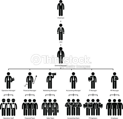 Organization Chart Tree Company Pictogram stock vector