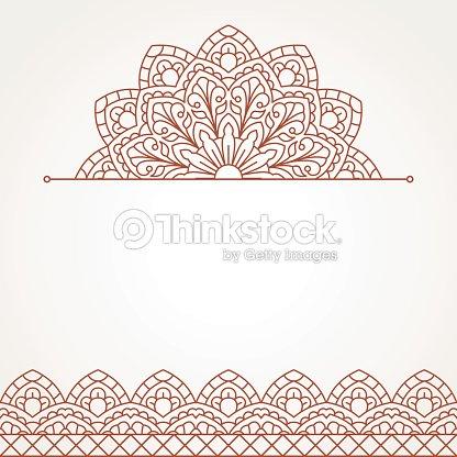oriental motif avec mandala clipart vectoriel thinkstock. Black Bedroom Furniture Sets. Home Design Ideas