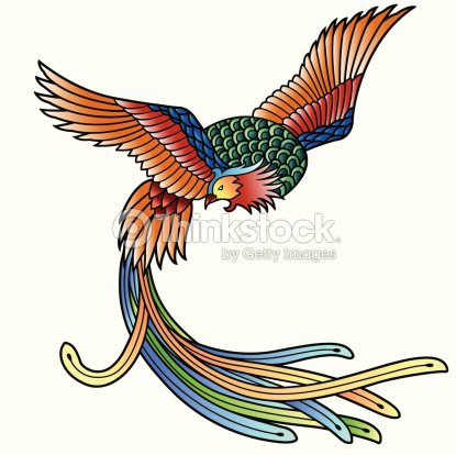 oriental phoenix vector art thinkstock