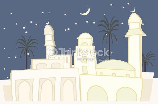 Oriental Villevue De Nuit Clipart vectoriel | Thinkstock