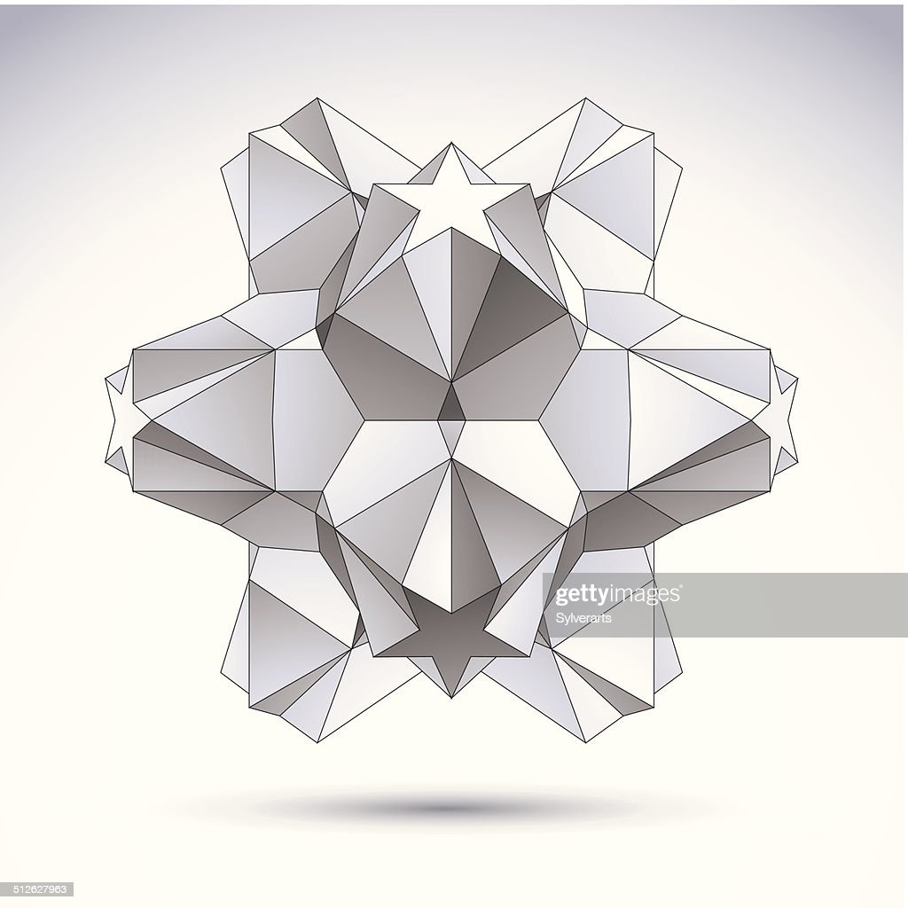 3d Origami Abstract Object Vector Abstract Design Element ... - photo#4
