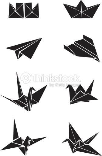 Origami Paper Boats Planes And Cranes Vector Art | Thinkstock