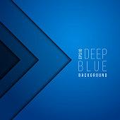 Origami paper modern minimal art vector blue background. Contemporary futuristic wallpaper. Banner with geometric shape dark blue illustration