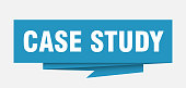 case study sign. case study paper origami speech bubble. case study tag. case study banner