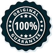 100% Original Guarantee label illustration