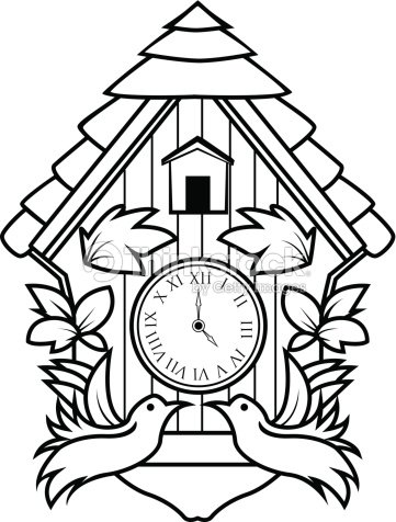 513dea7c672 Ornamental Relógio de Cuco   Arte vetorial