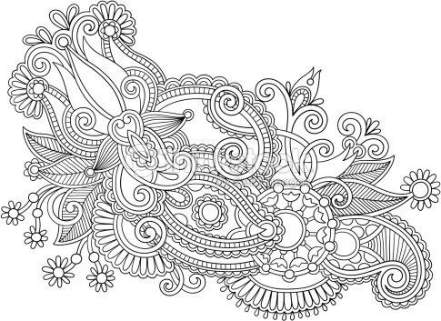 ornement motif fleuri clipart vectoriel thinkstock. Black Bedroom Furniture Sets. Home Design Ideas