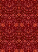 Pattern with ornamental flowers. Seamless filigree ornament. Colorful template for wallpaper, textile, shawl, carpet and any surface.
