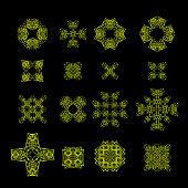 Ornamental Line Pattern. Decorative Texture. Oriental Geometric Ornament