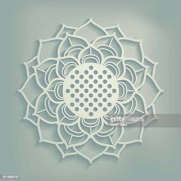 Ornamental lotus flower (Paper cut)