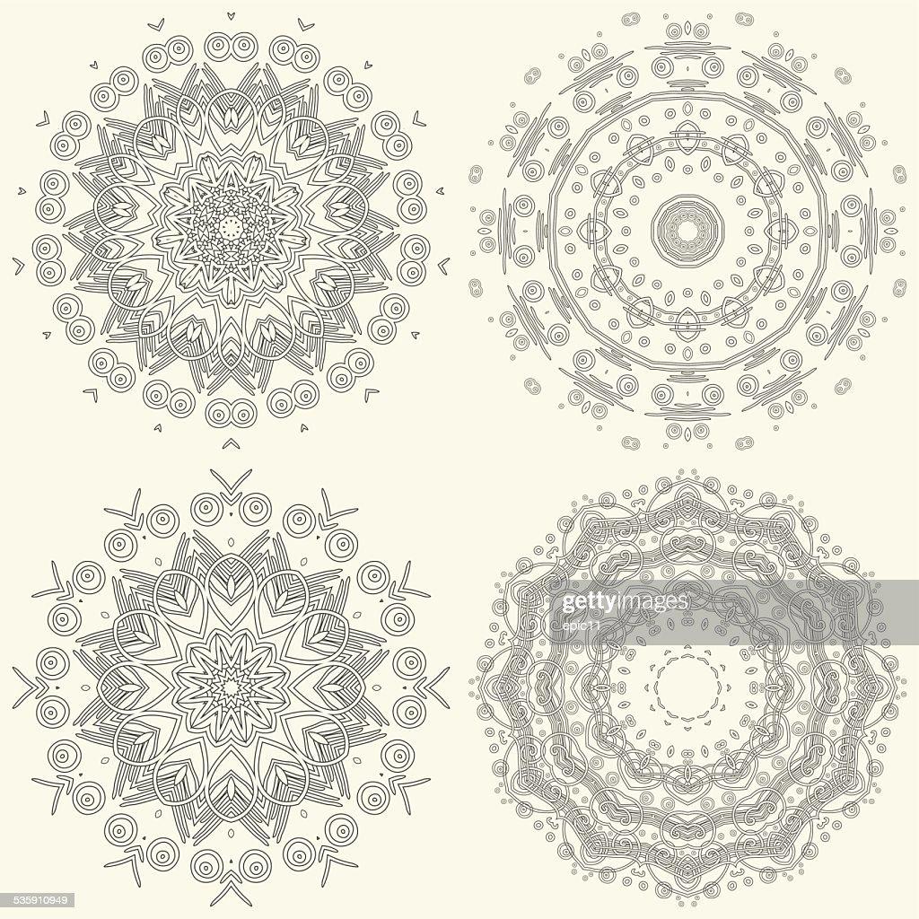 Ornamental padrão : Arte vetorial