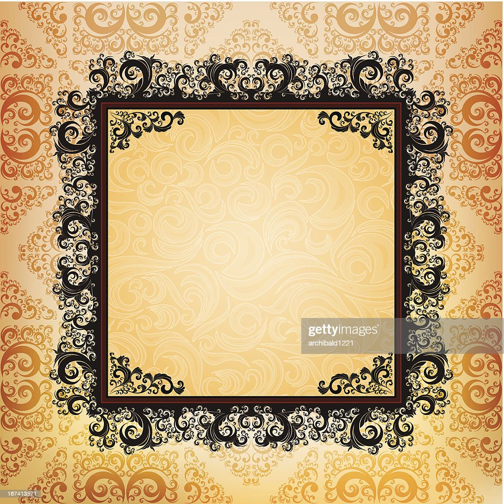 ornamented frame : Vector Art
