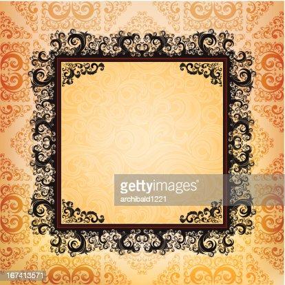 ornamented frame : Vektorgrafik