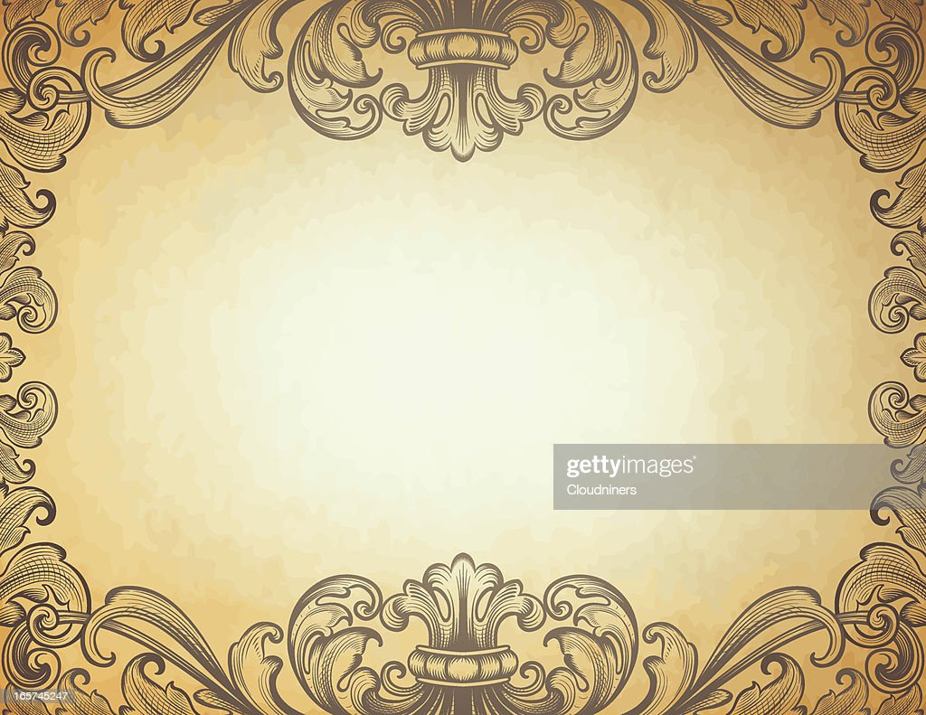 ornate baroque border vector art getty images