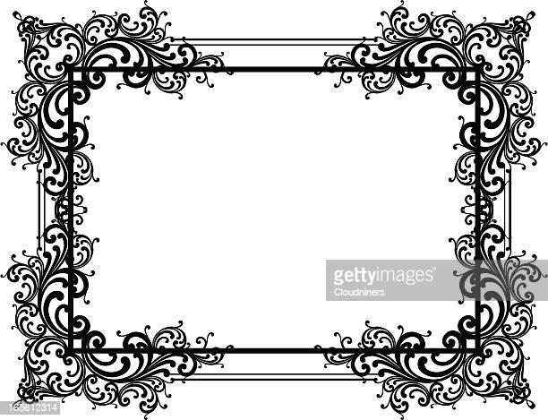 Verzierte Ecke Rahmen