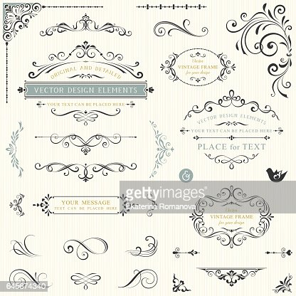 Ornate Design Elements_03 : Arte vettoriale