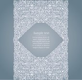Vector design of a card template in flourish Medieval style