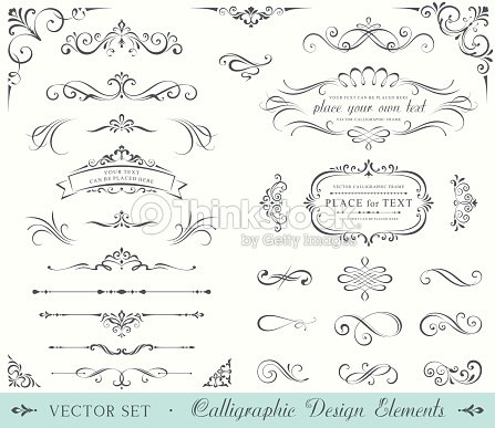 Ornate Frames And Scroll Elements Vector Art | Thinkstock