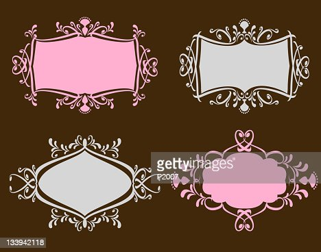 Ornate Frames Set : Vector Art