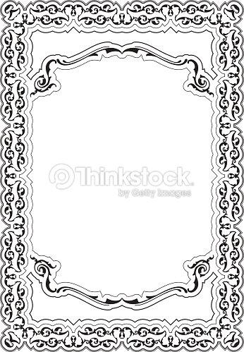 Ornate Nice Cool Frame Vector Art   Thinkstock