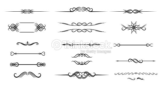 Ornate Set Of Hand Drawn Vintage Frame For Text Decoration Vector ...