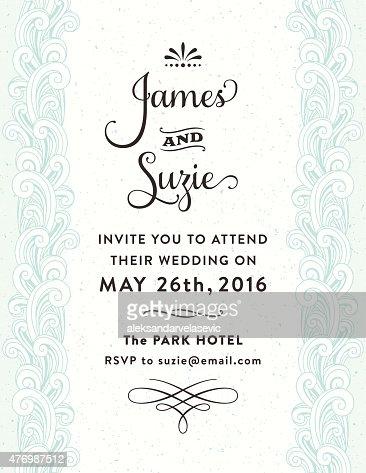 Ornate wedding invitation vector art getty images ornate wedding invitation vector art stopboris Gallery