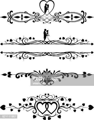Ornate Wedding Scrolls Vector Art | Getty Images