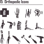 15 Orthopedic And Spine Symbol Vector Illustration stock