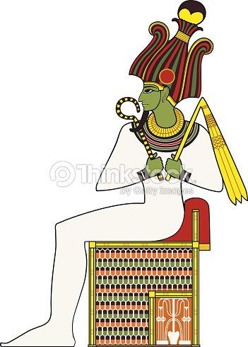 オシリス絶縁体古代エジプトの神 ベクトルアート - Thinkstock