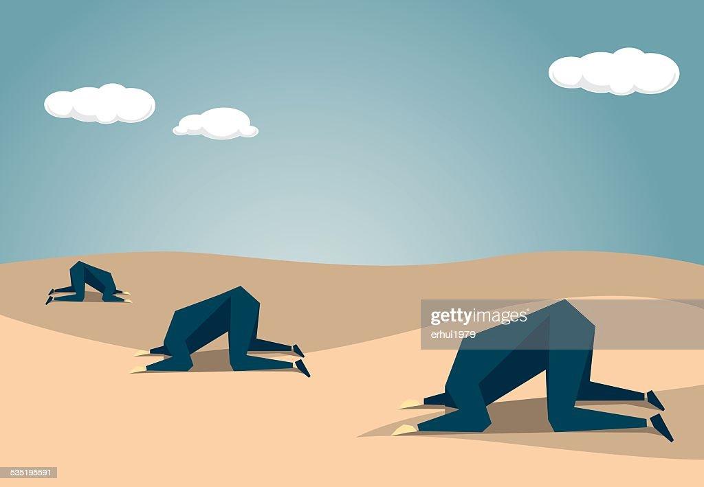 Ostrich : Vector Art