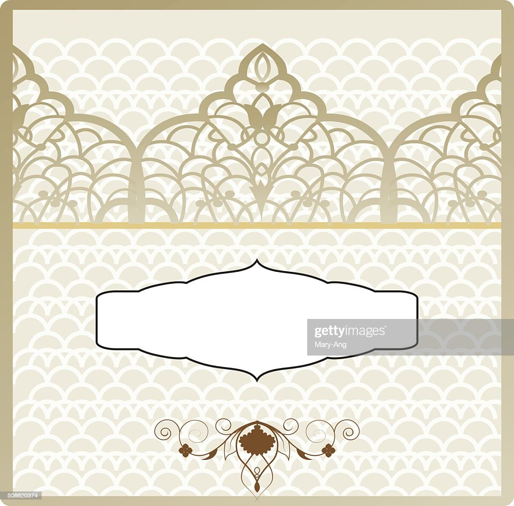ottoman pattern invitation : Vector Art