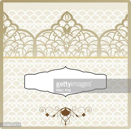 ottoman pattern invitation : Vector Art